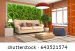 interior living room. 3d... | Shutterstock . vector #643521574