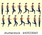 running man for animation 14... | Shutterstock .eps vector #643523065