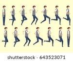 running man for animation 14... | Shutterstock .eps vector #643523071