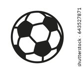 soccer football ball minimal... | Shutterstock .eps vector #643527871