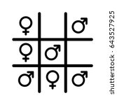 tic tac toe game icon with male ... | Shutterstock .eps vector #643527925