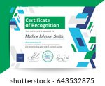 certificate of recognition... | Shutterstock .eps vector #643532875