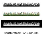 blackand green grass with... | Shutterstock .eps vector #643534681
