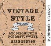 font typeface vector vintage... | Shutterstock .eps vector #643557244