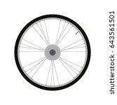 road bike rear wheel with gear... | Shutterstock .eps vector #643561501