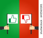 modern thumbs up and thumbs... | Shutterstock .eps vector #643563181
