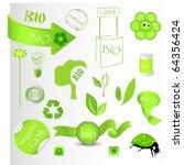 new bio green concept set   Shutterstock . vector #64356424