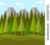 flat landscape of forest of... | Shutterstock .eps vector #643565731