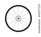 bicycle front wheel with disc... | Shutterstock .eps vector #643577137