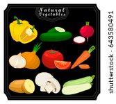 vector for green fruits pepper...   Shutterstock .eps vector #643580491