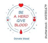 blood donation design template. ...   Shutterstock .eps vector #643581679