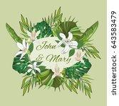 wedding invitation template ...   Shutterstock .eps vector #643583479