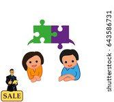 group of people icon  friends... | Shutterstock .eps vector #643586731