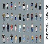 diversity people set gesture... | Shutterstock . vector #643590235
