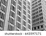 architecture windows pattern... | Shutterstock . vector #643597171