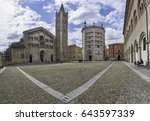 panorama of piazza duomo with... | Shutterstock . vector #643597339