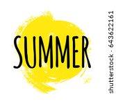 summer lettering. vector...   Shutterstock .eps vector #643622161