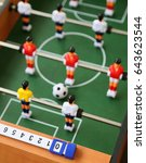 table soccer | Shutterstock . vector #643623544