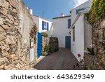 hirondelle street in la chaume  ...   Shutterstock . vector #643629349