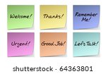 Color Paper Notes With Popular...