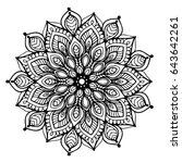 mandalas for coloring book.... | Shutterstock .eps vector #643642261