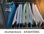 Files Placed On A Metal Filing...