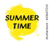 summer time  lettering. vector... | Shutterstock .eps vector #643647214