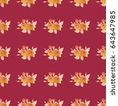 Vector Cute Floral Pattern In...