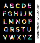 colorful creative uppercase...   Shutterstock .eps vector #643654309