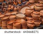 traditional georgian clay... | Shutterstock . vector #643668271