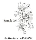 vector flowers | Shutterstock .eps vector #64366858