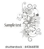 vector flowers | Shutterstock .eps vector #64366858