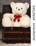 Big White Teddy Bear Waiting In ...