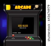 Arcade Machine Screen  Vector...