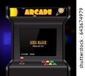 Arcade Machine Screen  Vector...