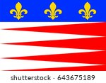 flag of castres is a commune ... | Shutterstock .eps vector #643675189