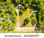 aerial view of a house  | Shutterstock . vector #643680397