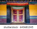 Colorful Tibetan  Door In Tibe...