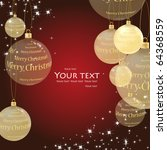 christmas background with balls. | Shutterstock .eps vector #64368559