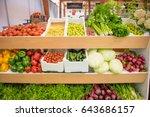 A Vegetable Shop Shelf...