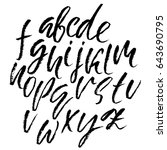 hand drawn dry brush font.... | Shutterstock .eps vector #643690795