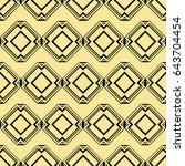 abstract art deco golden... | Shutterstock .eps vector #643704454