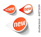 new labels. vector. | Shutterstock .eps vector #64371634
