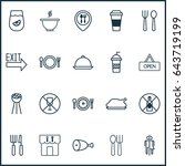 meal food icons set. collection ...