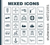 shipping icons set. collection... | Shutterstock .eps vector #643721551