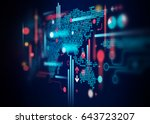 abstract technology background | Shutterstock . vector #643723207