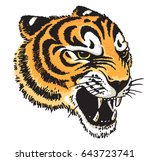 stylized vector drawing of a... | Shutterstock .eps vector #643723741