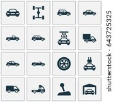 auto icons set. collection of... | Shutterstock .eps vector #643725325