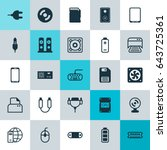 computer hardware icons set.... | Shutterstock .eps vector #643725361
