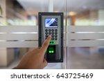 press keypad  number to unlock  ... | Shutterstock . vector #643725469